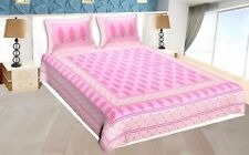 Handmade Bedspread King Size 100% Cotton With 2 Pillow Cover