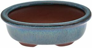 Chinese Bonsai Pot Oval Glazed Flower Pot Planter