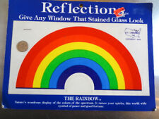 Large Vintage 80s Reflections Rainbow Window Decal 7.75