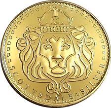 24k Gold Gilded  Scottsdale Omnia  1oz .999 pure Silver Coin