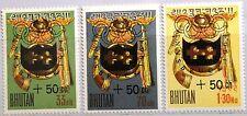 BHUTAN 1964 19-21 B1-B3 Winter Olympics Innsbruck ovp Emblem Zuschlag MNH