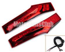 New Red Lens LED Rear Pillar Lights For Honda Jazz Fit Brake Tail Lamp 2014 2015