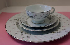 """STYLE HOUSE FINE CHINA JAPAN """"PICARDY""""  4 PIECE PLACE SETTING EXCELLENT"""