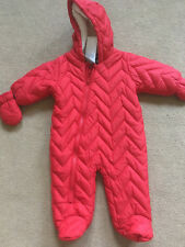 BNWT NEXT Boys Red Quilted Snowsuit Winter Coat 3-6 Months