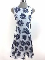 Tommy Hilfiger NWT Beautiful NAVY/IVORY Floral print drop waist Dress