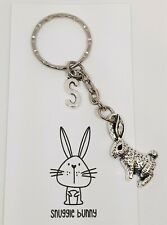 Rabbit Keyring Personalised with Initial Charm