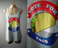 Vote for Taco Funny Politics Elections Graphic Gray Tank Top 296 mvp Shirt S M L