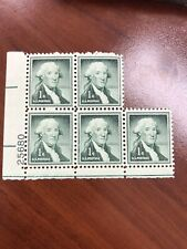 5 X George Washington One 1 Cent Stamp US Postage Never Used