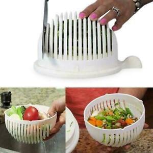 Salad Cutter Bowl Vegetable Easy Make Healthy Fresh Salad ~ White