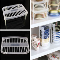 Dish Organizer Rack Home Kitchen Bathroom Plastic Drainer Holder Shelf Storage