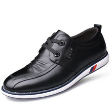 Mens Lace Up Oxfords Casual Pointed Toe Pu Leather Shoes Dress Formal Business