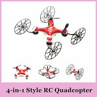 YUXIANG 668 Q5 2.4G Drone 4in1 Quadcopter Plane Helicopter SD Card RC IR Car Fun