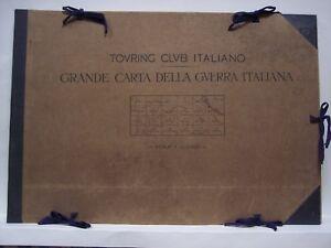Touring Club Italiano 1917 GRANDE CARTA DELLA GUERRA ITALIANA, , ww1, 24 carte