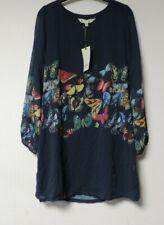 YUMI Butterfly Tunic Dress Long Sleeve Navy Size UK 14 EU 42 NH002 CC 03