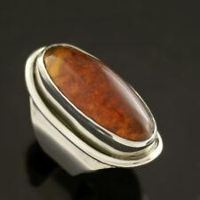 Danish Silver Ring w/ Amber - Carl Ove Frydensberg -VINTAGE