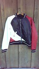 Ride Snowboard Reversible Baseball Jacket Women's Size Medium Black Red White