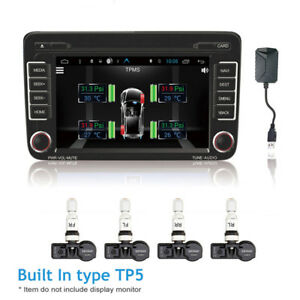 4X Built in TPMS Tire Pressure Monitoring Temperature Alarm for Android Car DVD