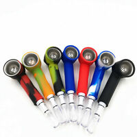Silicone Hand Tobacco Smoking Pipe with Cap Bowl Herb Cigarette Filter Holder