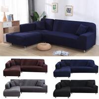 Elastic Sofa Seater Cover Furniture Protector Washable Slipcover Decor L-Shaped