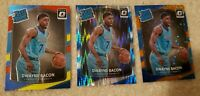 2017 Donruss Optic Lot(3) #161 Dwayne Bacon RC Fast Break Orange/193 Shock, Base