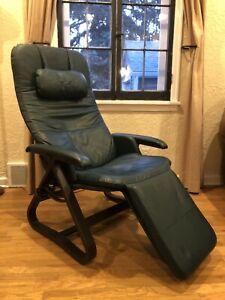 Nepsco BackSaver Jade Leather Zero Gravity Recliner Chair Danish Bentwood