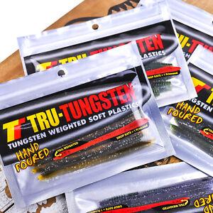 """TRU TUNGSTEN Dart Reverse Weighted Unweighted Soft Finesse Worm 5"""" - PICK"""