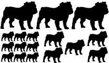 18x Auto Aufkleber Englische Französische Bulldogge French Bulldog Bully dog Hun