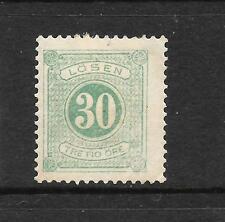 SWEDEN  1877-86  30ore  POSTAGE DUE  P13  MH   Sc J20