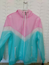 MEMBERS ONLY TRANSLUCENT COLOR BLOCK JACKET.  NEW IN ORIGINAL BAG.   NICE!!!