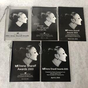 Irene Sharaff Awards 2001 - 2005 Souvenir Program Costume Design Designer Books