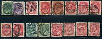 Canada #75/90 used F/VF 1898/1903 Queen Victoria/King Edward VII CHOICE cancels