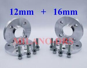 KIT 4 DISTANZIALI RUOTA 12+16mm RENAULT CLIO I-II-III-IV-V + BULLONI