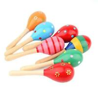 2pcs Wooden Maraca Baby Kids Musical Instrument Rattle Shaker Party Toy AU FAST