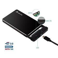 USB 3.0 Festplattengehäuse für 2,5 Zoll SATA HDD SSD Festplatten - Aluminium