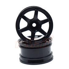 SPICE VOLK Racing TE37 Wheel Offset 8 Black 1:10 RC Cars Drift On Road #SPA-427