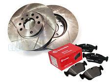 GROOVED REAR BRAKE DISCS + BREMBO PADS FOR SKODA SUPERB (3U4) 2.8 V6 2002-08