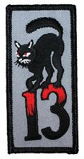 "Unlucky #""13"" Number Thirteen & Black Cat Bad Luck Symbol Iron On Applique Patch"