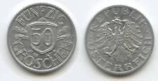 G8123 - Österreich 50 Groschen 1947 KM#2870 Erhaltung 2. Republik 1945-2001