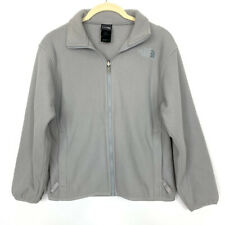 The North Face Girls Youth Size Medium Jacket Grey Polar Fleece Full Zip Up