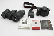 Canon EOS 80D 24.2MP Digital SLR Camera W/ 70-300mm, 18-135mm, 10-18mm & EXTRAS