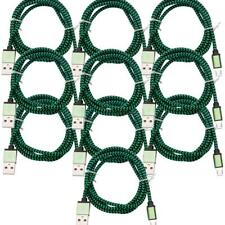 10X 3FT Micro USB Data Adapter Charging Charger Cable For Android iphone Green