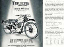 Triumph - Motorrad-Programm - Prospekt - 1939 - Deutsch - nl-Versandhandel