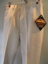 Nos 1970s Haggar Tan Houndstooth AnchorMan Golf Pants Slacks Trousers Mod Men 32