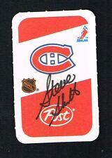 Steve Shutt signed autograph auto 1982-83 Post Cereal NHL Hockey Card