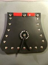Front Fender Mud Flap Fits Harley Davidson or Universal Fit STUDS & CONCHO