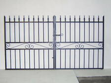 Strong wrought Iron double driveway iron gate 4ft tall 8ft wide