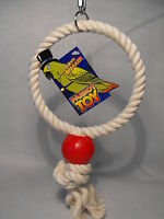 PARROT TOY / LARGE BIRD TOY BOREDOM BUSTER CAGE TOY PARROT SWING PARROT RING