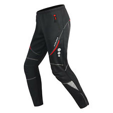 Men's Cycling Trousers Fleece Thermal Mountain Bike Windproof Tights Long Pants