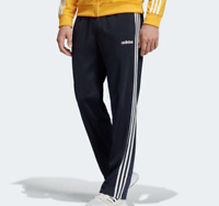 Adidas Track Pants Mens New Essential 3 Stripes Straight Leg Blue Small or Large