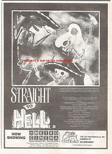 POGUES / CLASH Straight to Hell movie 1987 UK Press ADVERT 7x5 inches